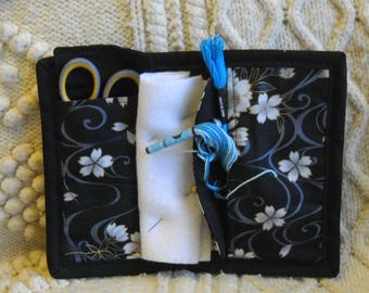 Floating Blossoms Needle Book, Needle Case, Hand Sewing Organizer