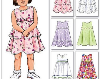 Retired GIRLS  SUNDRESS PATTERN!  Summer Clothes / Size 4-6 / Easy To Do