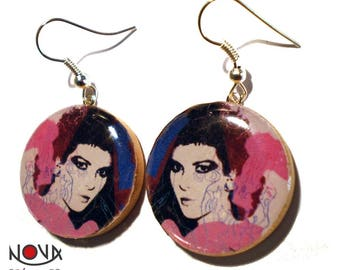 Andy Warhol - Portrait of a woman-earrings
