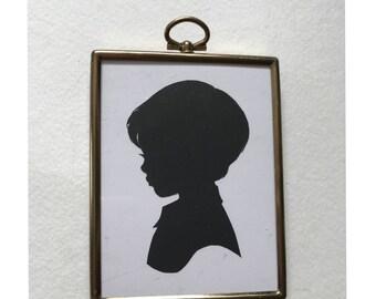 FRAMED Custom Silhouette in Vintag Rectangular Frame