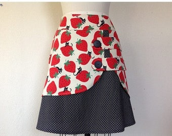 SALE Strawberry Cat double layer skirt Sz 6