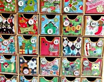 Kids Advent Calendar-Advent Calendar Box-Christmas Countdown-Holiday Pet Gifts-Christmas Treat Box-Holiday Decor-Christmas Gift-Christmas