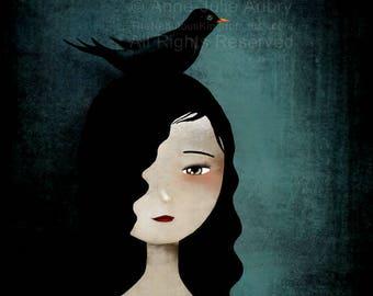 50% Off - Summer SALE - Blackbird - open edition print