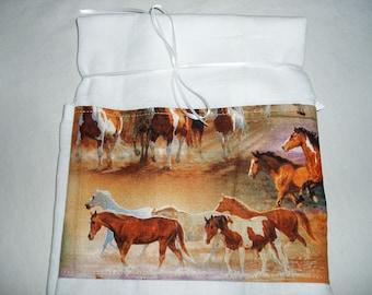 Horses Flour Sack Dish Towel