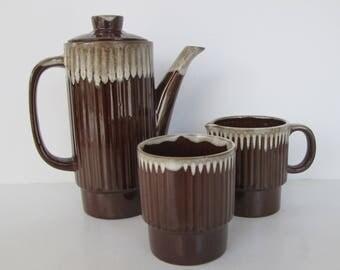 Teapot Cream and Sugar Set