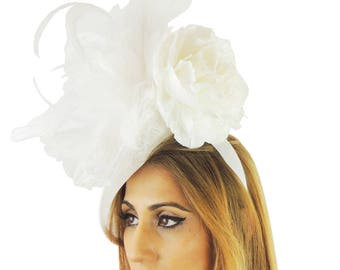 Cream Fascinator Kentucky Derby or Wedding Hat **SAMPLE SALE