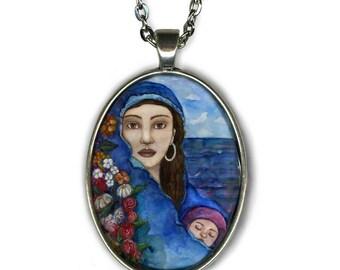 Statement necklace - Eirene Goddess - Goddess Jewelry - Goddess Art - Greek Goddess - Greek mythology - gift necklace - boho chic