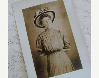 ON SALE Antique Gorgeous RPC Postcard over 100 years old
