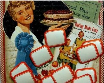 ONSALE Vintage Dennison Organization Labels, 12 Vintage Dennison Gummed Labels No.213B