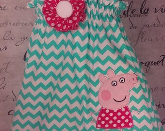 Peppa Pig Halter dress size 2t, or 3t