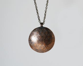 Flower of Life Sacred Geometry Necklace (large)