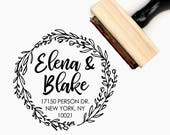Custom Personalized Return Address Pre-Designed Rubber Stamp - Branding, Packaging, Party, Invitations, Tags, Wedding Favors - A005