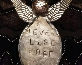 Handmade angels spoon angels affirmation angels rustic angels folk art angels