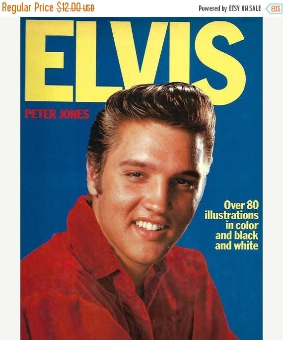 Christmas in July Sale 1976 Elvis Presley Elvis by Peter Jones hard back book Octopus Books Limited