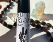 quiet mind temple oil made with lavender frankincense and myrrh - roll on natural perfume anointing oil