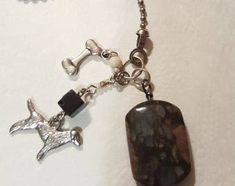PET LOVERS - Cat or Dog - Light or FAN pull or Rear View Mirror Charms
