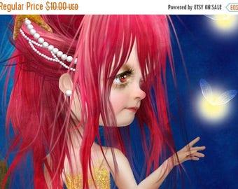50% Off SALE Midsummer Night 5x7 Small Giclee Premium Fine Art Print