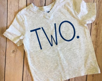 Two tee, child's second birthday, I am 2