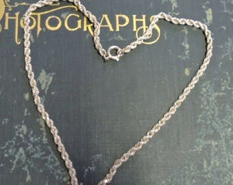 10K Gold Plated Rope Chain, 20 Inch Gold Chain