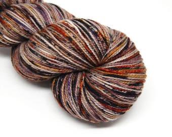 "Acoustic Sock Yarn - ""Haunted Harvest"" - Handpainted Superwash Merino - 400 Yards"