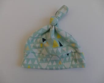 new born baby knot hat designer  fabric