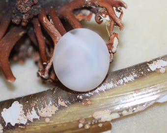 Stunning beachglass Find Smokey /cloudy Cabochon ZY008