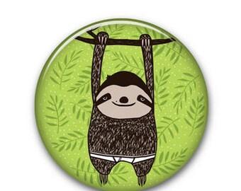 """Sloth 1.25"""" Button"""