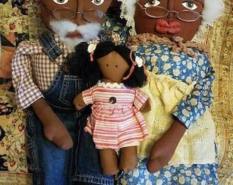 super sale folk art handmade black dolls