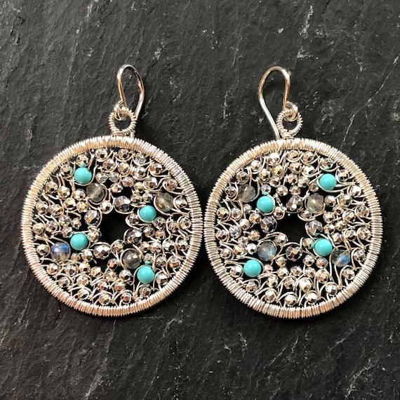 Pebbled earrings