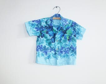 Vintage Blue Hawaiian Shirt
