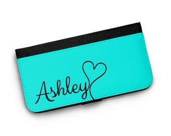 Teal Personalized Wallet Phone Case, iPhone Wallet Case, iPhone 7 Wallet Phone Case, iPhone 6s Wallet Phone Case, iPhone 5 Wallet Phone Case