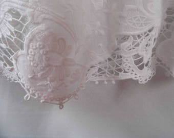 Adrianne Cotton embroidered lace christening, baptism, blessing gown
