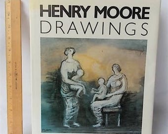 Henry Moore Drawings Large Art Book 1988 Rizzoli Color Plates