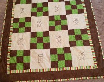 Teddy Bear quilt, baby quilt