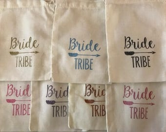 Bride Tribe Survival Kit Bags, DIY Bridal Party Bride Squad Survival Bags, Bridesmaid Gift Bags