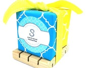 Soap Gift, 2 Soaps with soap dish gift/ Mother's Day Gift/ Birthday Gift/Housewarming Gift/Guest Soap - you choose scent