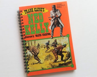 Ned Kelly, 1985, Recycled Book Journal & Notebook