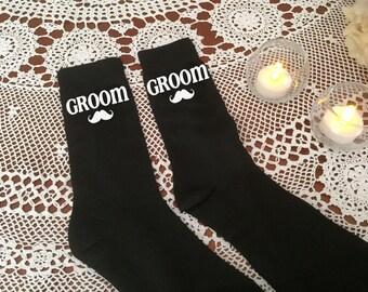 Groom Socks-Groomsmen-novelty socks-personalized socks-father of the bride socks-father of the groom sock- peronalised wedding socks