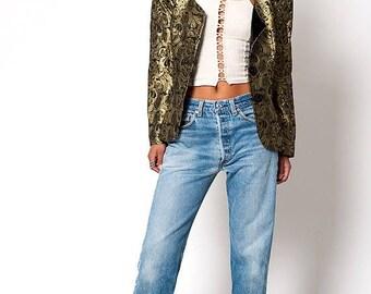 40% OFF CLEARANCE SALE The Vintage Gold Bolero Tuxedo Jacket