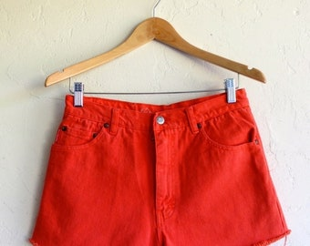 "40% OFF The ""Orange Daisy Duke"" Cut-off Shorts"