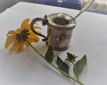 Vintage Quadruple Pairpoint Silverplate Sugar or Honey and Spoon Combo