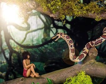 "Dollhouse Miniature Snake Boa Jungle Book "" Kaa""  Figure OOAK"