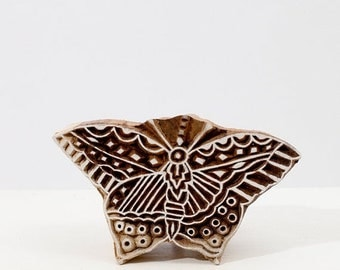 50% off Hand Carved Stamps Butterfly 227