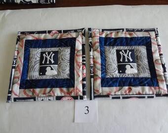 New York Yankees potholders- pair #3