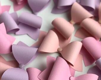 Paper Bows Pinks Bows, Lilac Bows, Blush Bows (24 QTY)