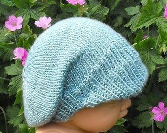 40% OFF SALE Instant Digital File pdf download - Baby Silk Peak Slouch Hat pdf download knitting pattern
