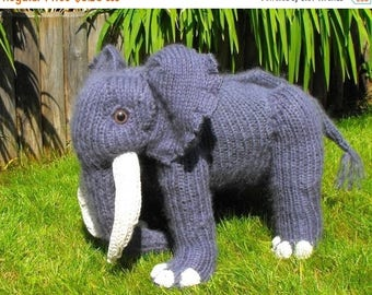 40% OFF SALE Engelbert Elephant toy animal pdf knitting pattern - madmonkeyknits - Instant Digital File pdf download knitting pattern