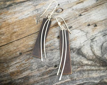 Sterling Silver Handmade Earrings  By Joy Kruse Wild Prairie Silver 'Prairie Winds'