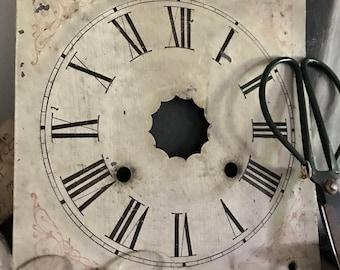 Antique Clock Face, Grandfather Clock