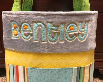 Custom Personalized One of a Kind Patchwork Diaperbag
